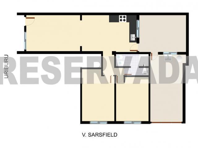 Baño Con Antebaño Plano:76 x 3 17 dormitorio b 2 77 x 3 06 antebaño baño duchador garage